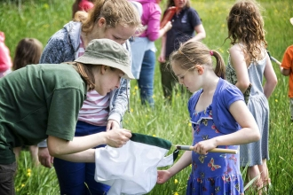 Bug hunting at Magor Marsh