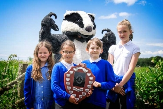 Shirenewton Primary School winners of the Gwent Wildlife Trust Wildlife Wizards competition 2019