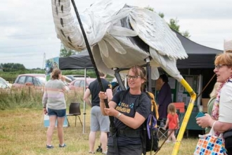 Life on Marsh festival organiser Kathy Barclay at Magor Marsh nature reserve