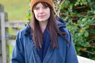 Actress Aimee-ffion Edwards supports the Save The Gwent Levels campaign she is pictured at Magor Marsh Nature Reserve