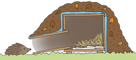 Hedgehog house illustration