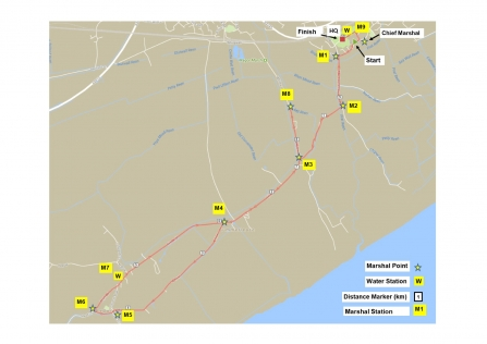 Race for Wildlife 10k route map