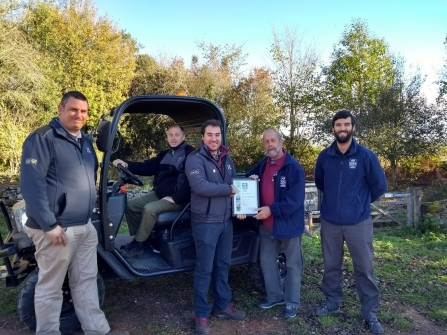 Hopkins Machinery have built on their relationship with Gwent Wildlife Trust by becoming platinum Business members of the charity.