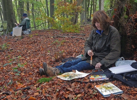 Artists working in Lady Park Wood