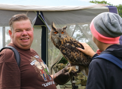 Wild Health event with owls